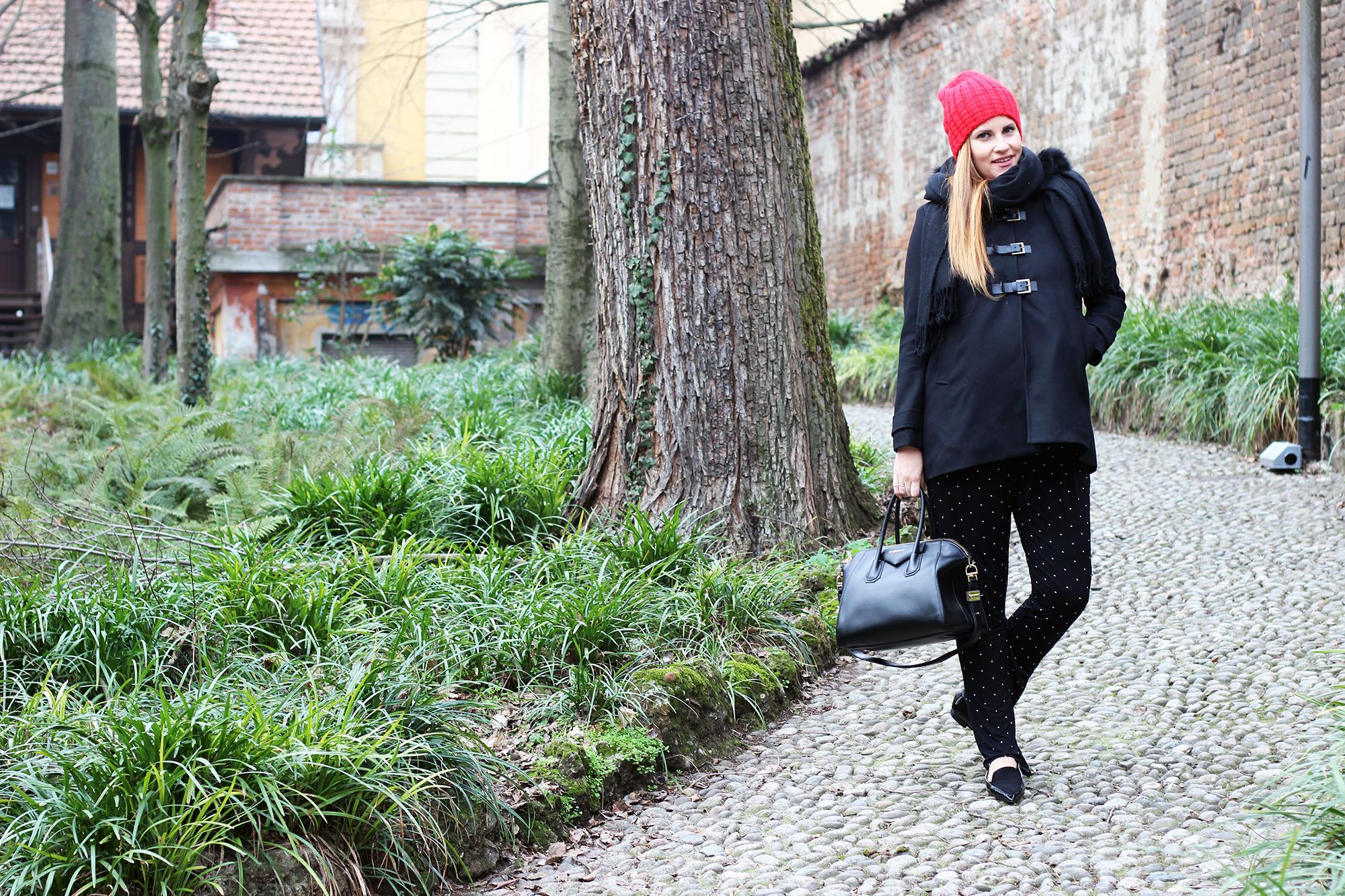 copertina total black envie de fraise moda premaman