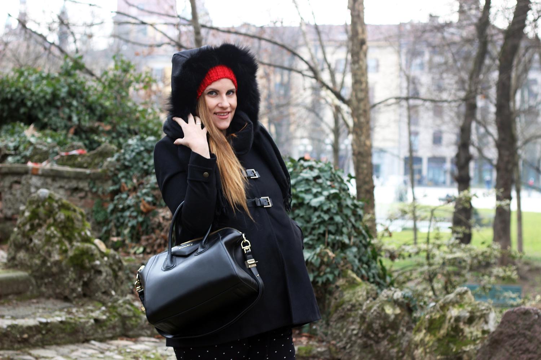 elisabetta bertolini cappotto premaman borsa givenchy antigona outfit gravidanza fashion blogger