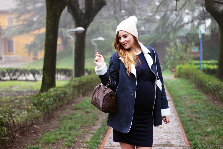 elisabetta bertolini shearling coat moda donna gravidanza fashion blogger italia