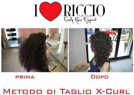 prima-dopo metodo taglio x curl capelli ricci i love riccio