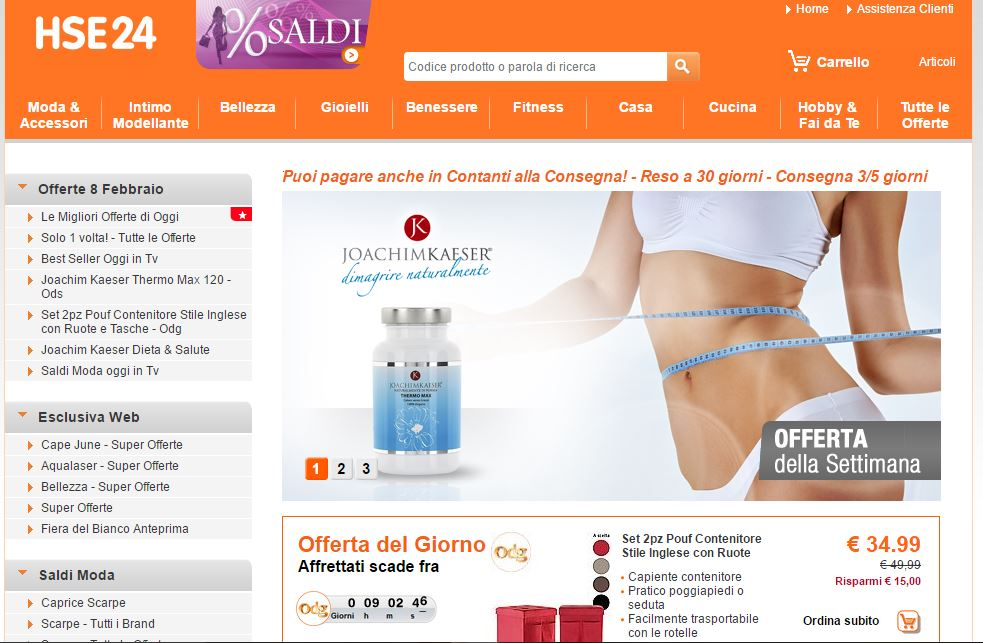 screenshoot come fare shopping su hse24 toutorial