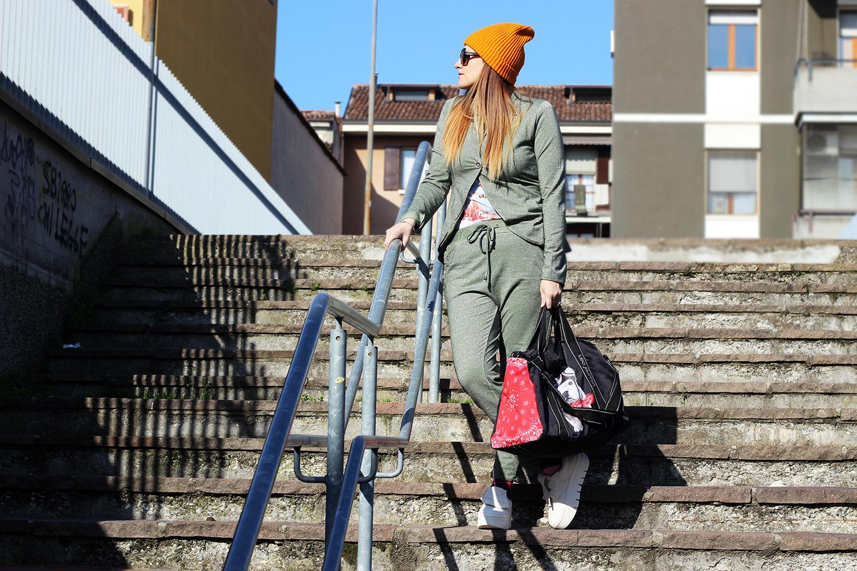 elisabetta bertolini sporty look pajamas suit by bighet fashion abbigliamento donna fashion blogger italia
