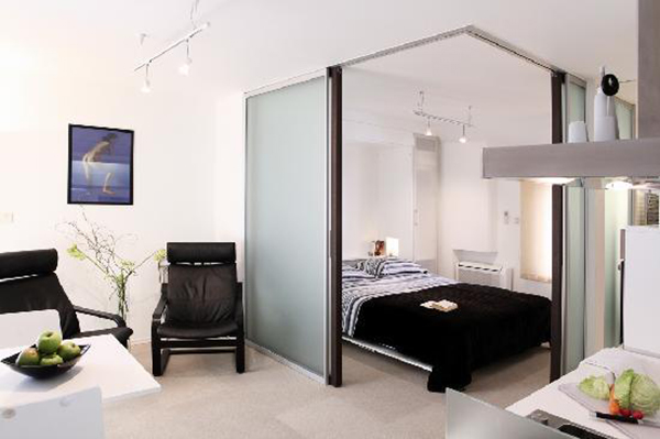 letto arredo monolocale piccoli spazi design lionshome