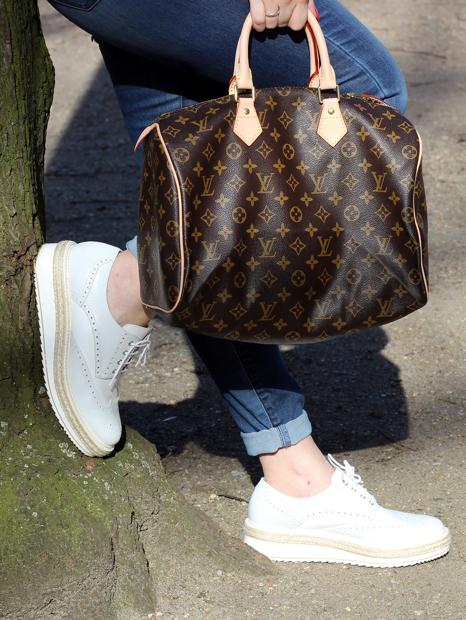 STRINGATE PEPEROSA SHOES SPEEDY BAG 35 LOUIS VUITTON