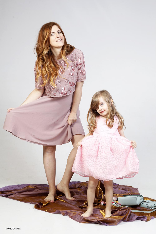 festa della mamma family look gaia masseroni elisabetta bertolini outfit moda donna e bimba in rosa