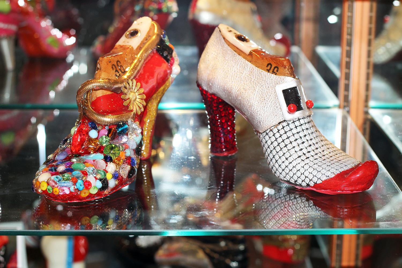 scarpe soprammobili moda vintage