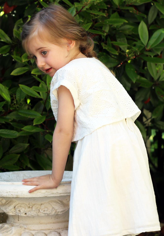 abito bianco cerimonia bimba