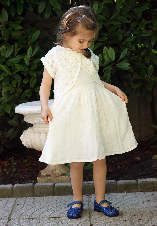 abito bianco da bimba abbigliamento cerimonia bimbi a basso costo kiabi kids primavera estate 2016