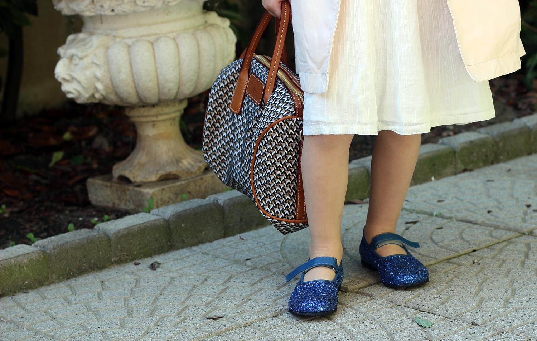 ballerine glitter da bimba prosperine blu elettrico scarpe made italy bimba cerimonia