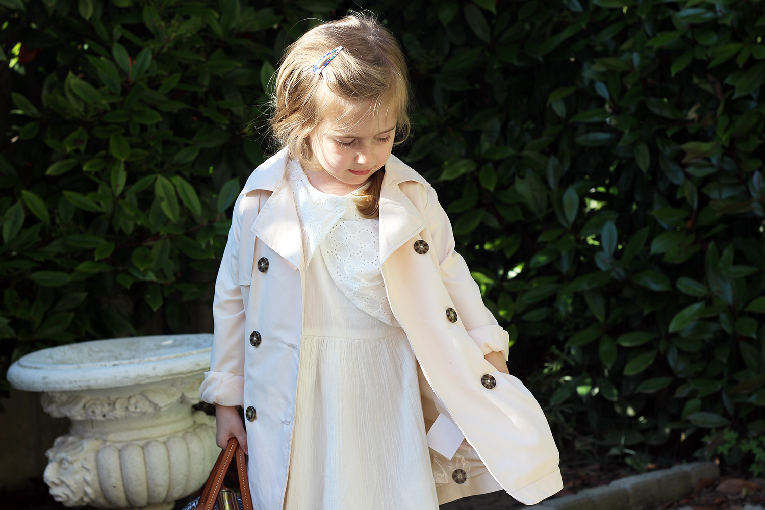 bimba trench coat primavera estate 2016