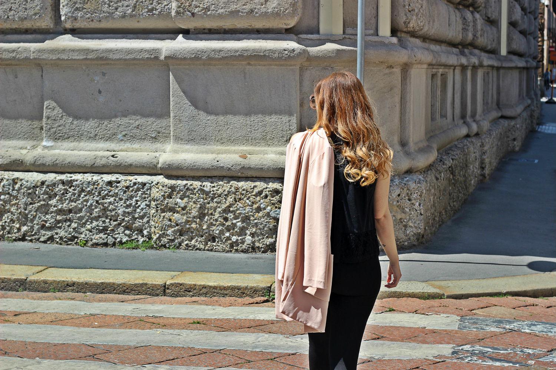 elisabetta bertolini moda primavera estate outfit fashion blog rosa pastello e nero