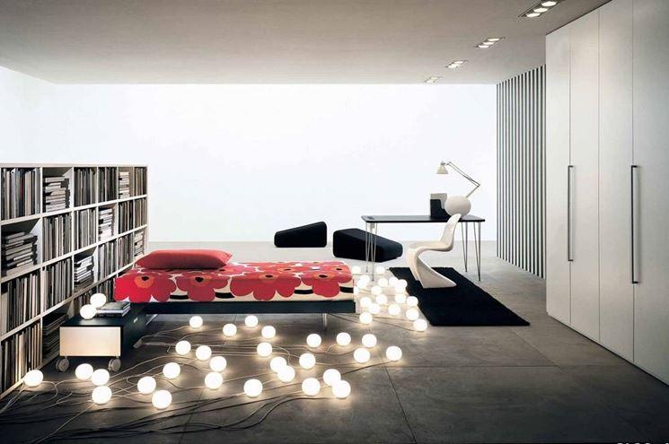 Punti focali per illuminare la camera da letto for Lampadario camera da letto led