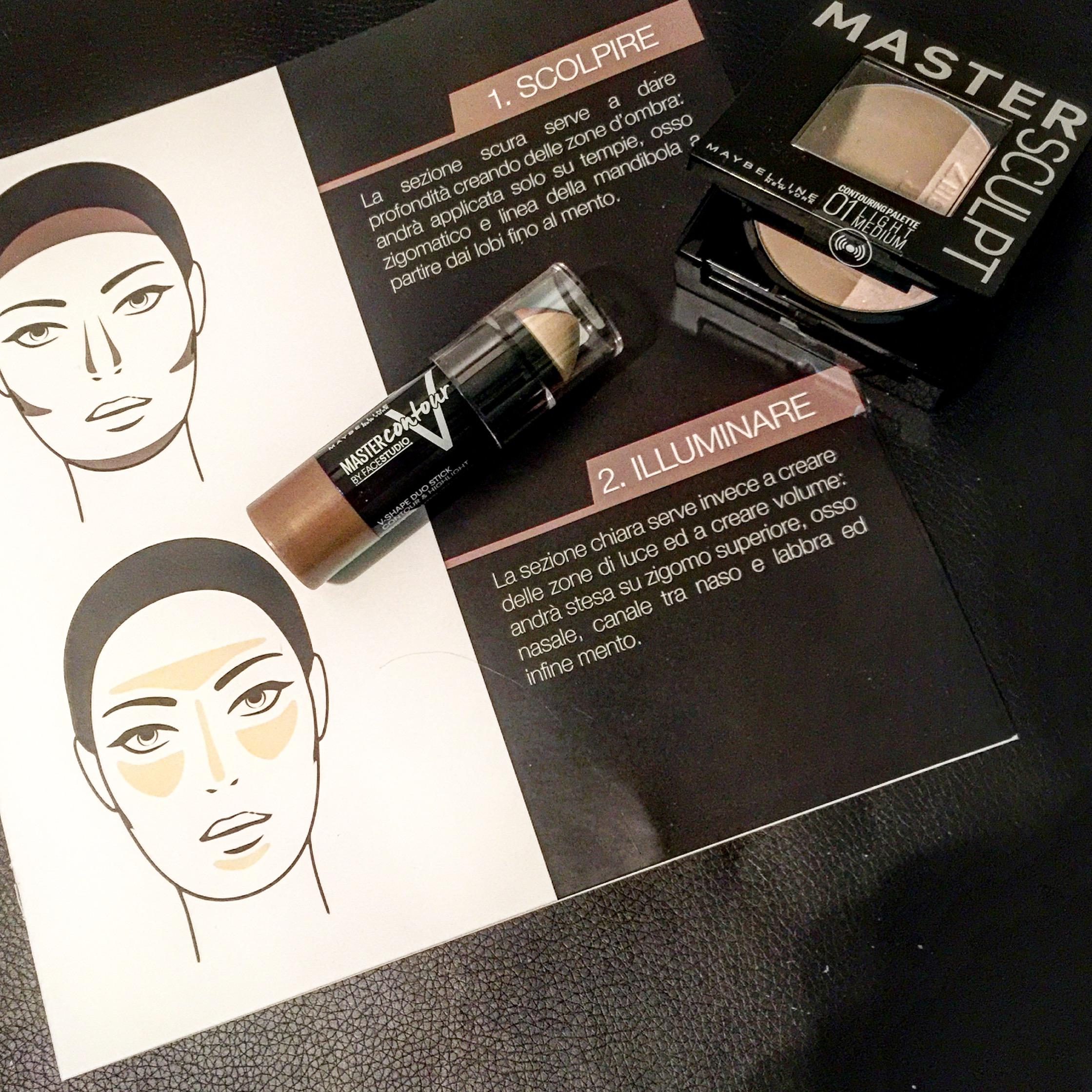Come realizzare un make Up viso contouring prodotti MAYBELLINE