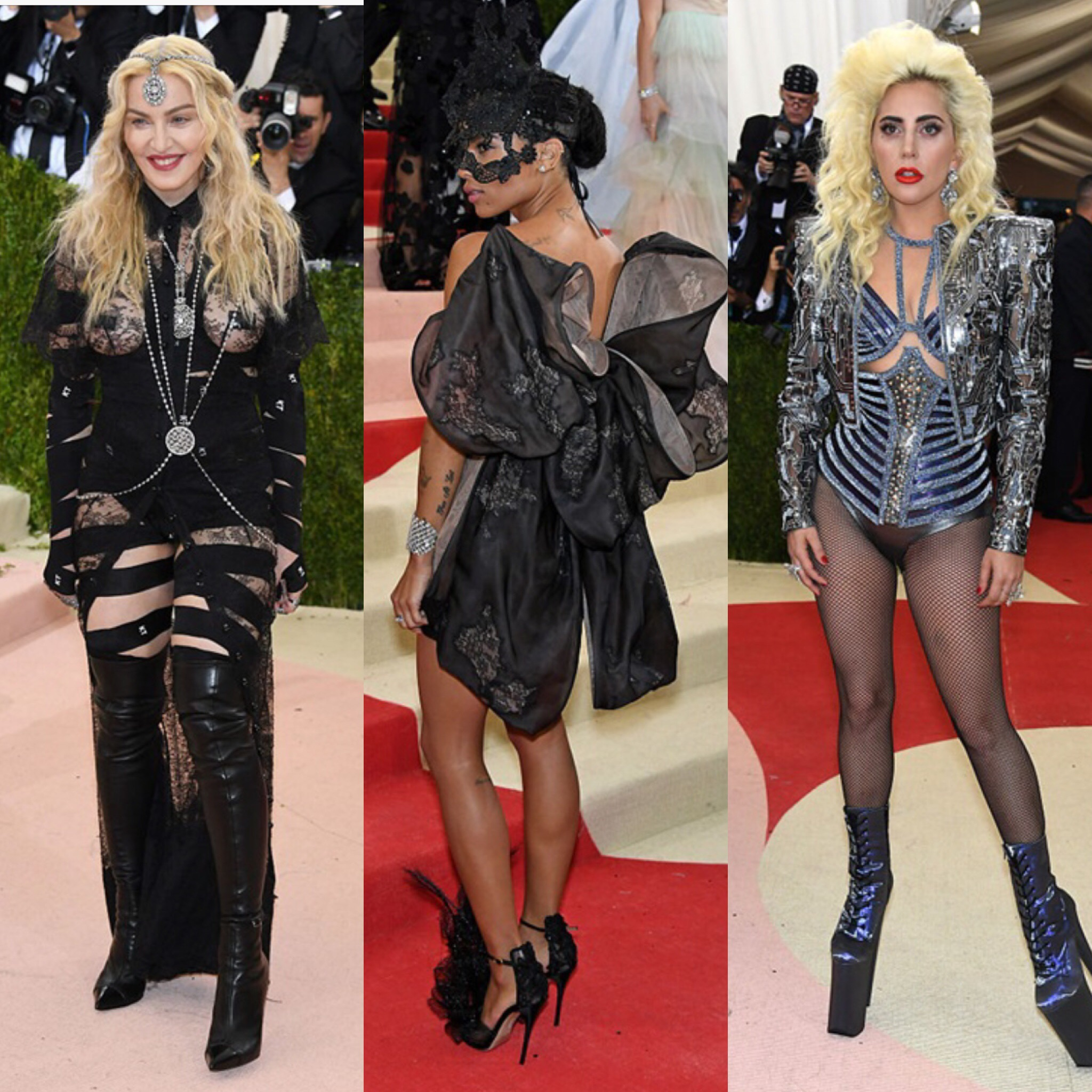 Trash look Madonna lady gaga met gala 2016