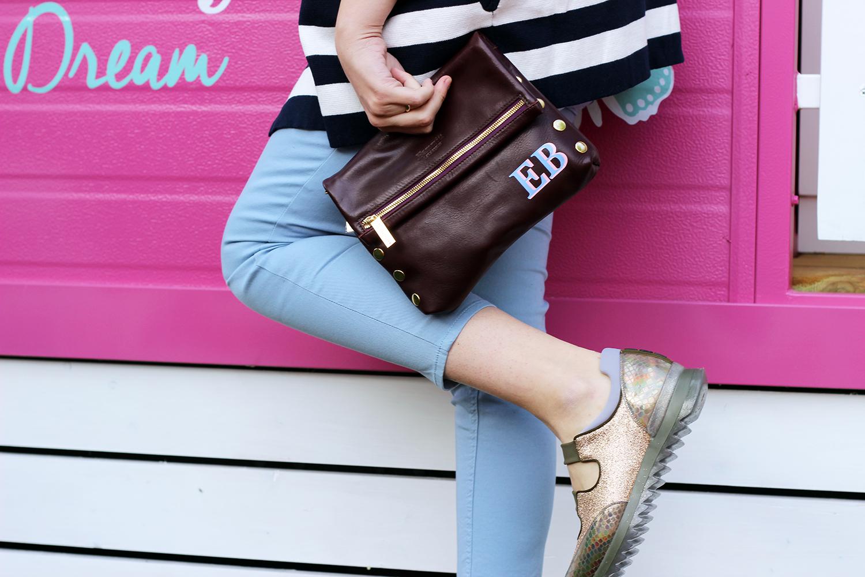 scarpe 181 pataloni azzurro serenity borsa personalizzata con iniziali