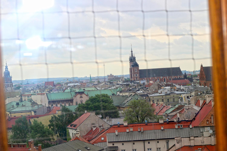 vista della città di cracovia dal castello di warwel