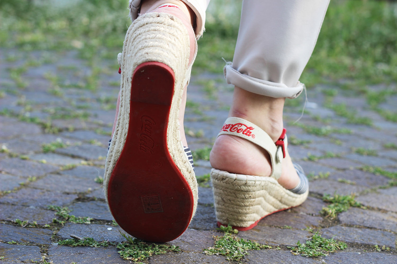 zeppe scarpe cocacola
