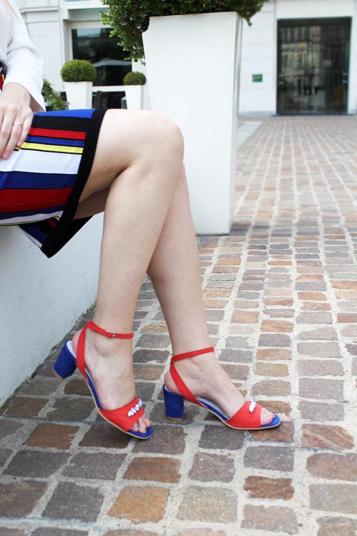 elisabetta bertolini shoes sandali gioiello rosso e blu
