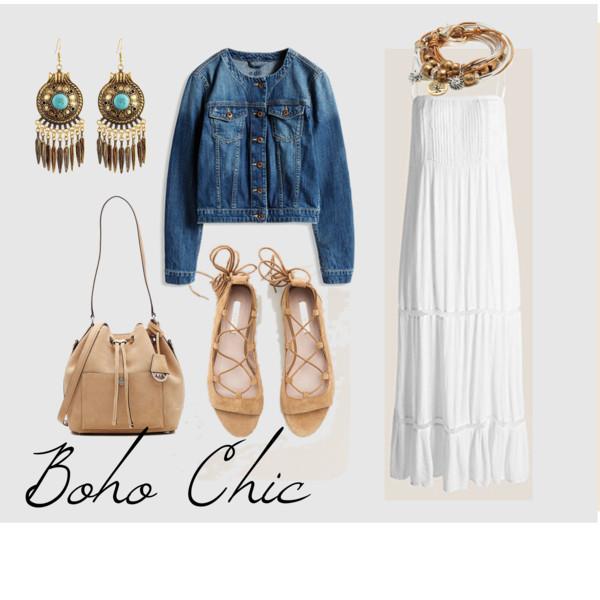 WHITE BOHO CHIC LOOK ESPRIT