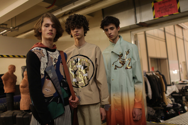 Backstage at J.W. Anderson Men's Spring 2017