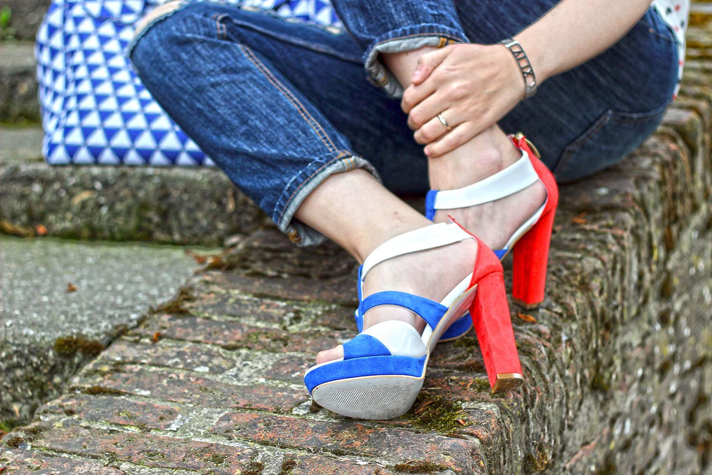elisabetta bertolini shoes calzature vigevano sandali rosso blu bianchi