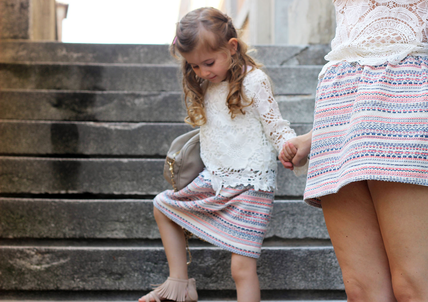 gaia masseroni look estate bimba gonna jaquard envie the fraise family collection