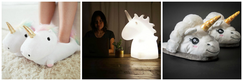 regalo_amica_pantofole_unicorno_lampada_unicorno_gadget