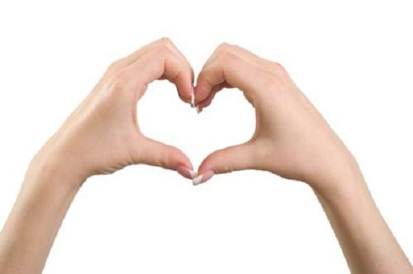 Heart gesture.