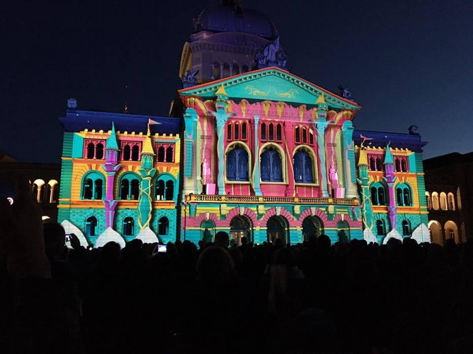 palazzo federale berna by night