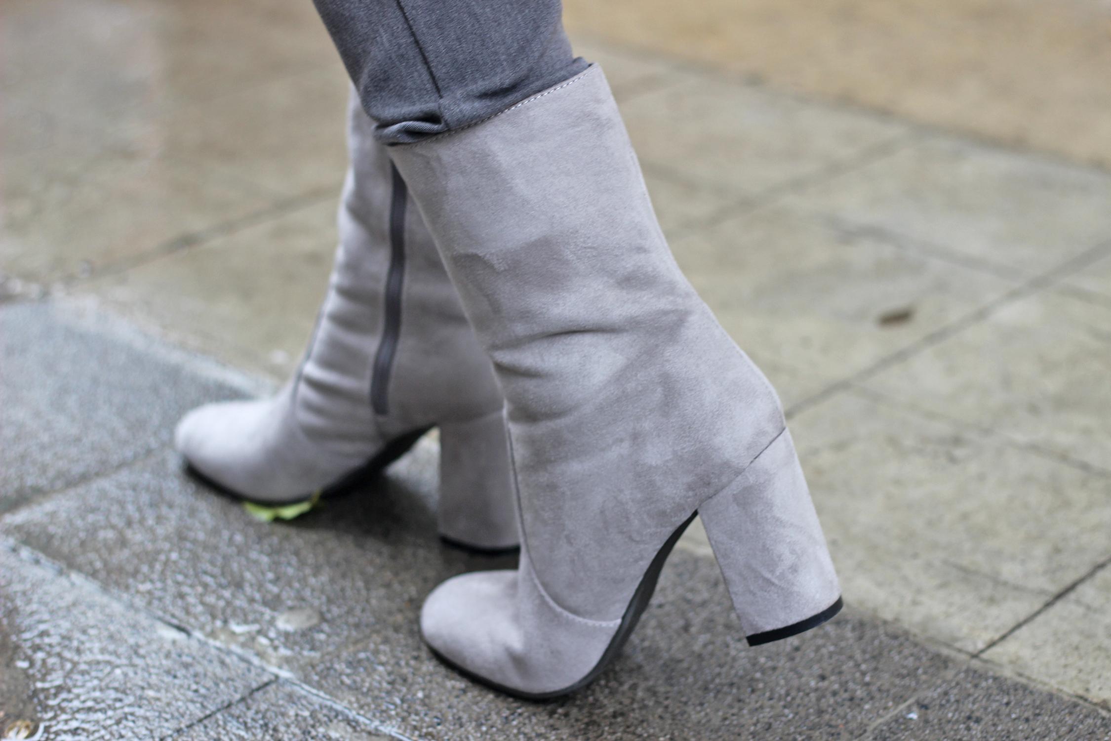 stivali suede grigi alice cerea deichmann