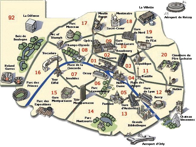 mappa_di_parigi_cosa_vedere