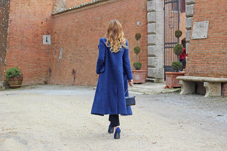cappotto lungo blu vdp
