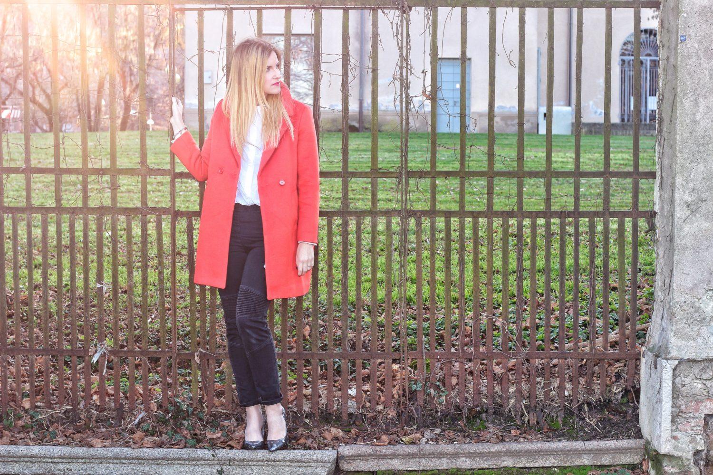 cappotto arancione look inverno 2017