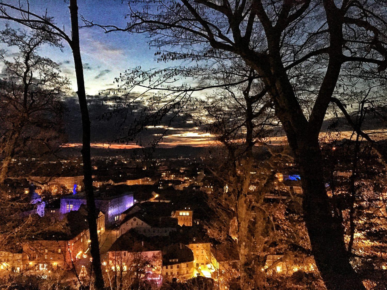 tramonto vista panoramica lubiana