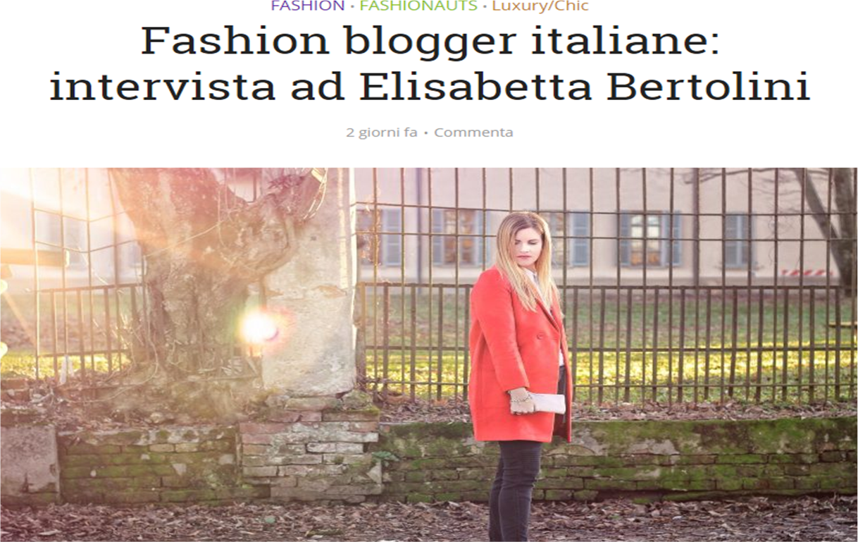 fashion blogger italiane 2017  intervista fashion out