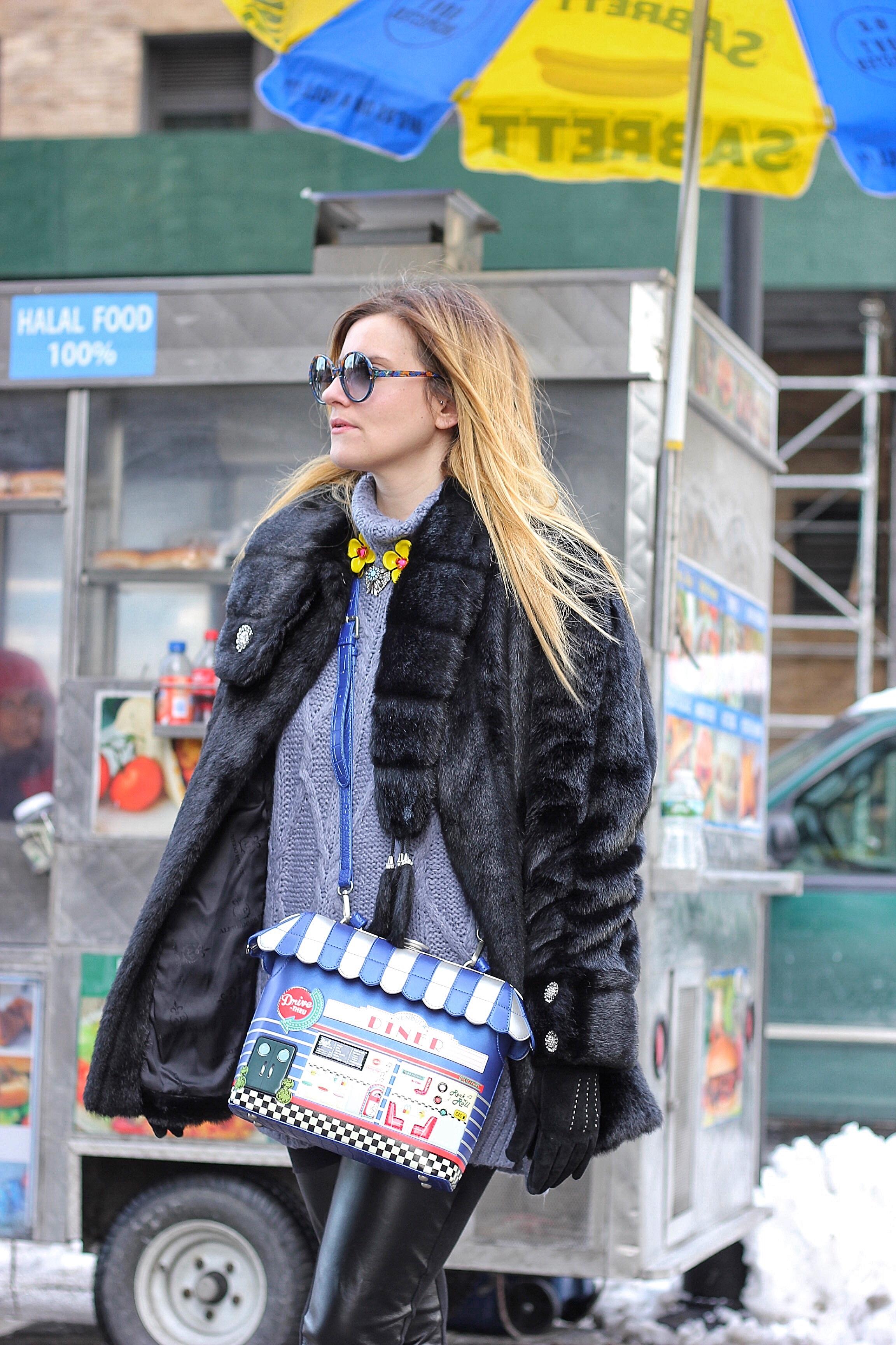outfit fw2017 moda donna pelliccia gioiello