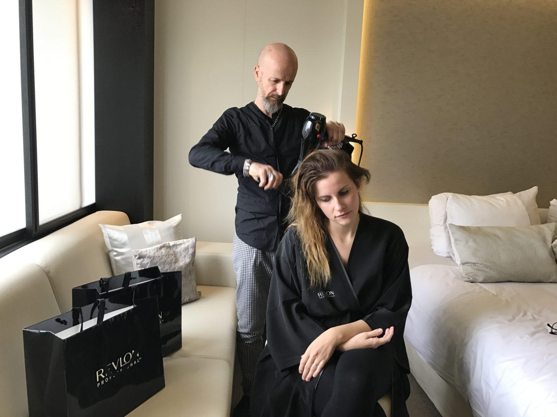 Stefano conte hairstylist personale Elisabetta Bertolini