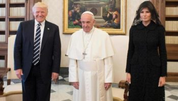 Pope Francis with Donald Trump