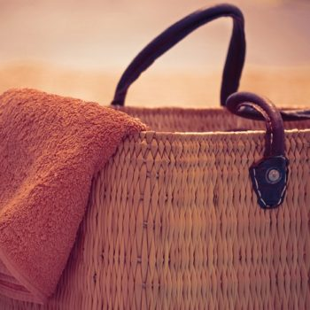 Holiday Vacation Sun Summer Beach Bag And Towel