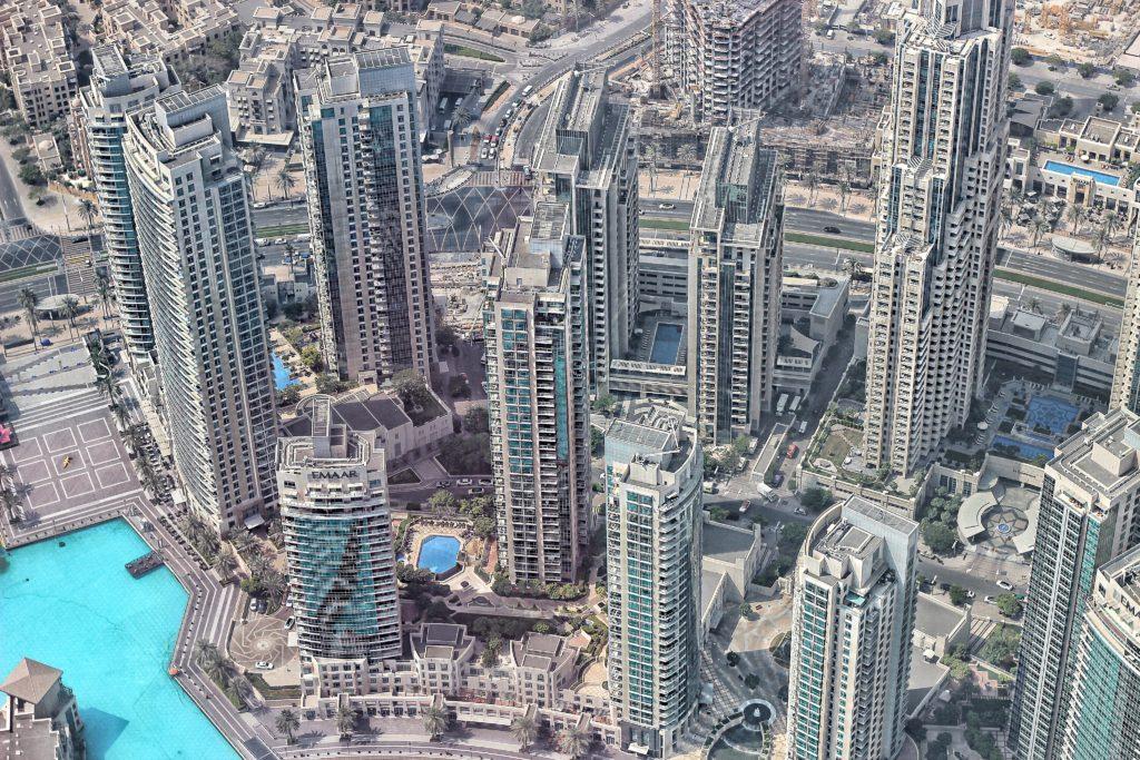 Dubai vista Burji Khalifa
