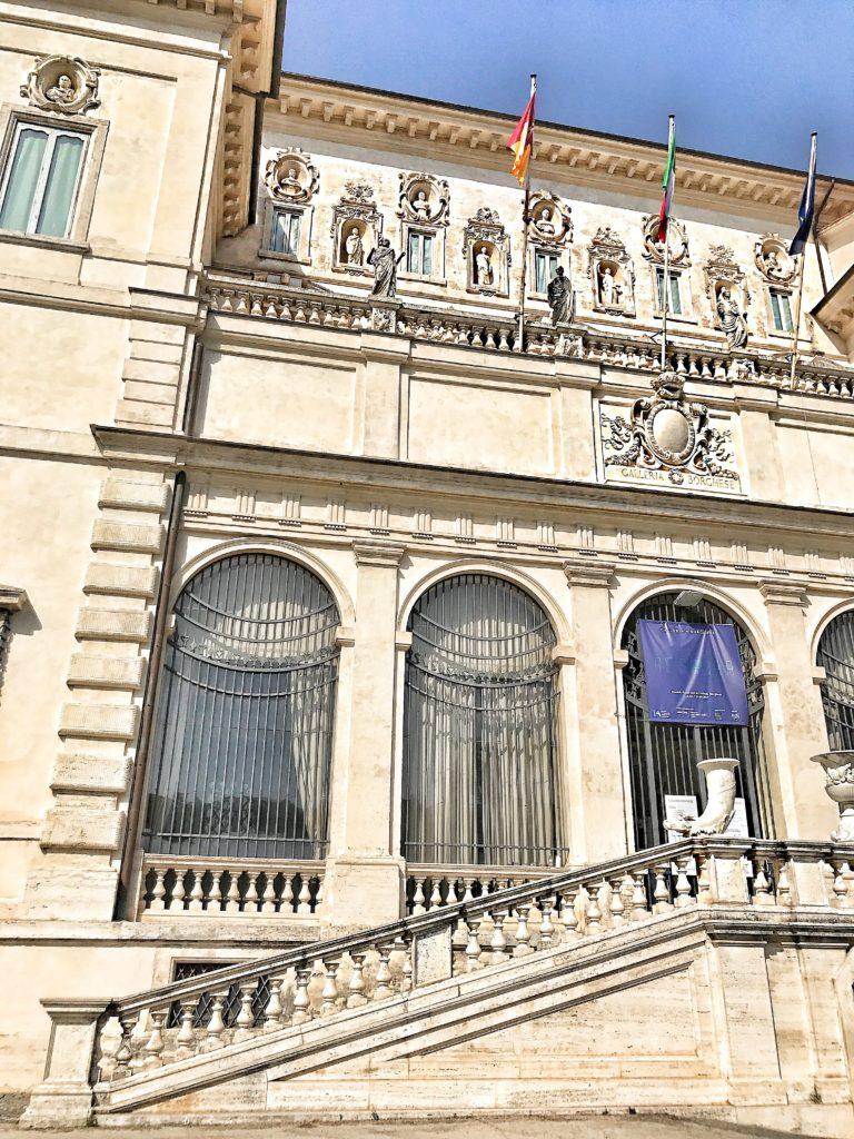 facciata villa borghese
