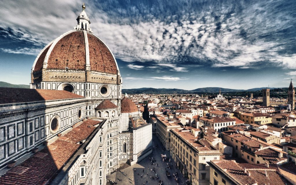 Basilica Of Saint Mary Ofthe Flower In Florence Wide Desktop Background