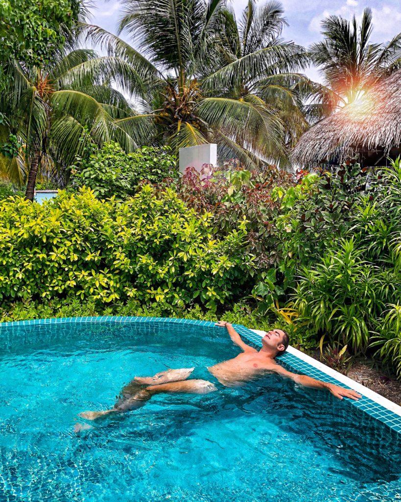 piscina privata maldive